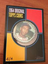2013 Topps Heritage Original 1964 TOPPS COIN ERNIE BANKS EXTREMELY RARE 4/4
