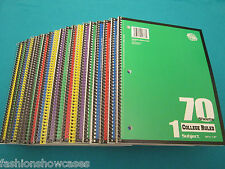 Spiral Notebook1 Subject 70 Sheets College Ruled 10 Spiral Notebooks Lot