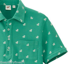 MICHAEL BASTIAN x UNIQLO 'Dogs' Washed Green Polo Shirt w/ Pocket SMALL **NEW**