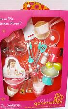 "NEW OUR GENERATION AMERICAN GIRL JOURNEY 18"" DOLL BAKING BAKERY KITCHEN CHEF POT"
