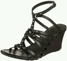 AUTH. BNIB KENNETH COLE REACTION WOMEN'S CEDAR PLANK T-STRAP SANDAL, BLACK, SZ.7