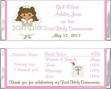 20 ADORABLE GIRL/BOY FIRST HOLY COMMUNION Personalized CANDY WRAPPERS FAVORS