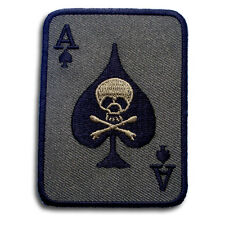 Ace Skull Green Card Patch Iron on Poker Harley Chopper Biker Rider Motorcycle