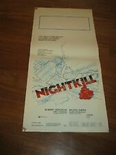 LOCANDINA,Nightkill Robert Mitchum Franciscus, Smith,Connors TED POST Thriller