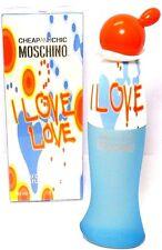 MOSCHINO CHEAP&CHIC I LOVE LOVE Eau De Toilette Spray 1.0 Oz / 30 ml NEW IN BOX!