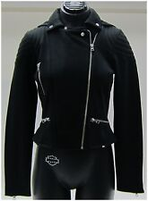 Harley-Davidson New Ladies Size L-Large Black Biker Zip-Snap, Slim Fit Jacket