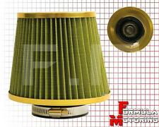 3'' INLET TURBO/CHARGER AIR FLOW CONE FILTER YELLOW T3/T4 T70 GT45 GT35 T25 T28