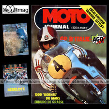MOTO JOURNAL N°220 YAMAHA DT 125 F GRAND PRIX IMOLA JOHNNY CECOTTO AGOSTINI 1975