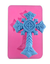 Decorative Large Cross Silicone Mold for Chocolate, Fondant, Crafts, etc.