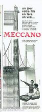 PUBLICITE ADVERTISING 056  1959  Meccano  jeux jouets