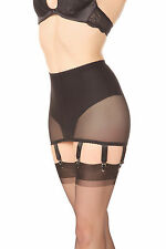 Bodice garters Suspender belt Black Size L Retro PowerMesh