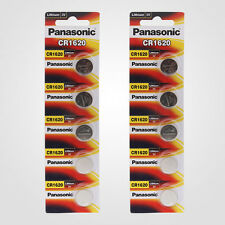 Panasonic CR1620 3V Lithium Battery 2PACK X (5PCS) =10 Single Use Batteries