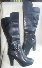 HENRY FERRERA NEW YORK KNEE-HIGH BLACK BOOTS  SZ 8.5 NEW