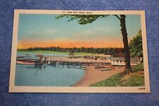 Vintage Linen Postcard 113 - New Pier, Onset, Mass.