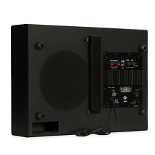 "Blue Octave SWS8 Powered 8"" Slim Subwoofer Home Theater Down Firing Sub"