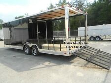 NEW 2016 8.5x24 8.5 x 24 Custom Utility Enclosed Cargo Trailer w/ Porch + Ramp