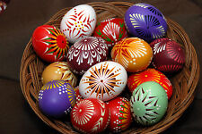 10 handmade pysanky easter eggs 10x lemko pysanka easter egg decoration
