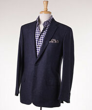 NWT $4795 BRIONI 'Colosseo' Blue Melange Wool-Cashmere-Silk Sport Coat 44 R