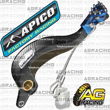 Apico Black Blue Rear Brake Pedal Lever For Yamaha YZ 250F 2010-2015 Motocross