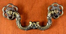 """Moving Special Qty 8 Vintage Brass Furniture Brass Pulls 276 Screw Holes 3 1/2"""""""
