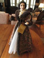 Franklin Mint Gone With the Wind Scarlett Porcelain Doll Dressing Gown w/tag