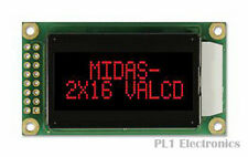 MIDAS    MC20805A12W-VNMLR    Alphanumeric LCD Display, 16, 8 x 2, Red, 5.56 mm,