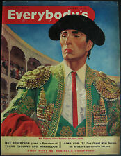 Matadores Luis Miguel Dominguin Bull Fighter Magazine Front Cover 1953 Page