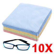10 x LARGE MICROFIBRE GLASSES CAMERA LENS SPECTACLE MICROFIBER CLEANING CLOTH UK