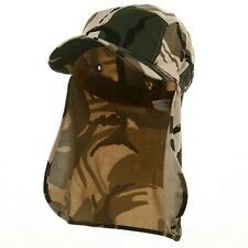 Foreign Legion BDU Cadet Long Neck Flap Hat  Military Flat Top SAFARI CAMO Cap