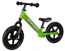 STRIDER 12 Balance Bike Classic Kids No-Pedal Learn To Ride Pre Bike GREEN NEW