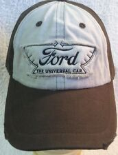 Ford Hat Cap Car F150 250 350 Truck 4x4 Brown & White Mustang Vintage Classic