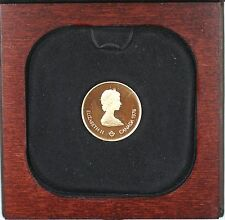 1976 Canada Olympic $100 1/2 Oz Gold Proof Commemorative Coin as Issued WW