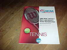 2005 NCAA Division I Tennis Championship Program 1st and 2nd Round