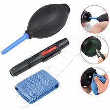 3 in 1 Lens Cleaning Kit Pen Brush Dust Cloth Blower DSLR Digital Camera VCR