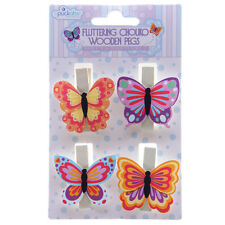 "Lot de 4 coloré Chouko papillon chevilles 4 charmant ""flottant"" designs"