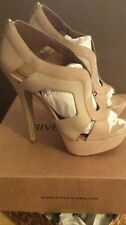 River Island Light Pink Leather and Suede Heels