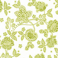 Cotton Medium Weight Covering Curtain Upholstery Fabric Shabby Floral Green 44""