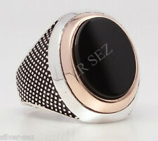 925 sterling silver man ring ottoman sultan suleiman turkish collections oval bl