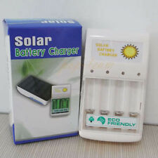 New USB Charger + Solar Battery Charger Sets 0.5W 4 pc AA/AAA GREEN POWER J14U