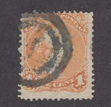 Canada Sc 23 used 1868 1c Large Queen, Scarce