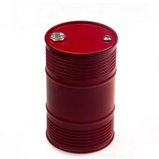 RC 1/14 Scale Aluminum Oil Drum Tank for Tamiya RC Tractor Container Truck Red