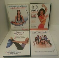 Lot Of 4 DVDs Dance Workout Fitness Exercise mom and baby pelvic pilates dance