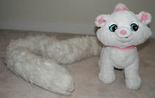 Marie Aristocats LONG TAIL White Cat Disney Parks Plush Stuffed Animal Toy Boa