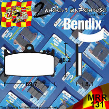 BENDIX 131-MRR ROAD RACING TRACKDAY FRONT BRAKE PADS BERINGER 4 PISTON CALIPER
