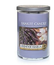 2 LARGE CANDLES--Yankee Candle LAVENDER VANILLA  2 Wick  22 Oz. Jar Candle
