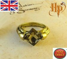 Film Harry potter deathly Horcruxes Resurrection Stone Retro Bronze Crystal Ring