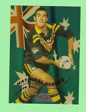 1996  ANDREW JOHNS  RUGBY LEAGUE NATIONAL HEROES  CARD NH1