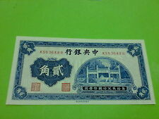 China 1931 20 cent Central Bank (PERFECT UNC)