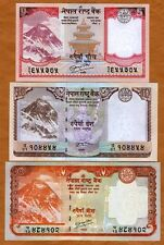 SET Nepal, 5;10;20 Rupees (2009-2010), P-60-61-62 UNC   Everest, Animals
