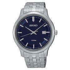 SEIKO  5 SUR143  Blue Dial Stainless Steel  SEIKO Quartz  SUR143-NEW